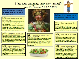 How can we grow our own salad?