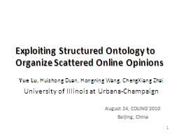 Exploiting Structured Ontology to Organize Scattered Online