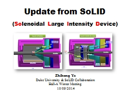 Update from SoLID