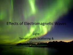 Effects of Electromagnetic Waves