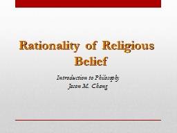 Rationality of Religious Belief