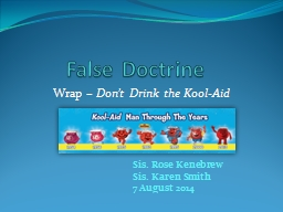 False Doctrine
