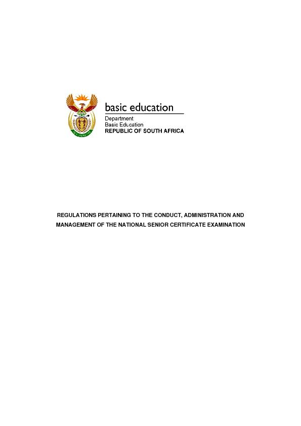 REGULATIONS PERTAINING TO THE CONDUCT, ADMINISTRATION AND MANAGEMENT O