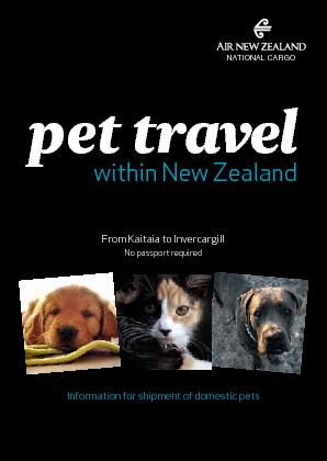 within New Zealandpet travelFrom Kaitaia to InvercargillInformation fo