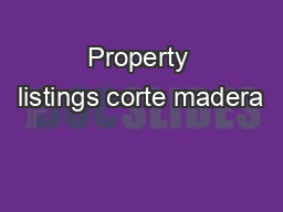 Property listings corte madera