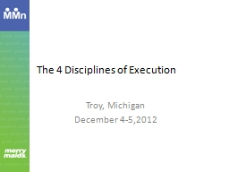 The 4 Disciplines of Execution PowerPoint PPT Presentation