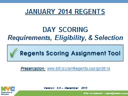 JANUARY 2014 REGENTS PowerPoint PPT Presentation