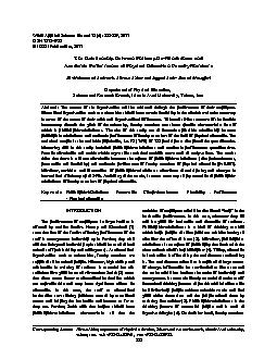 World Applied Sciences Journal 15 (6): 885-889, 2011ISSN 1818-4952