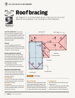 Build   FebruaryMarch  Roof bracing WE COMPLETE THIS FOURPART BUILD SERIES ON CALCULATING BRACING REQUIREMENTS BY LOOKING AT ROOF BRACING