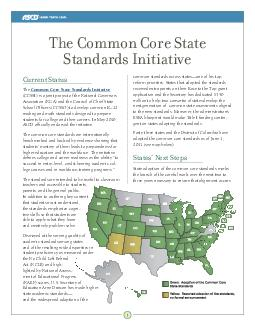 Current Status The Common Core State Standards Initiative CCSSI is a joint proje PDF document - DocSlides