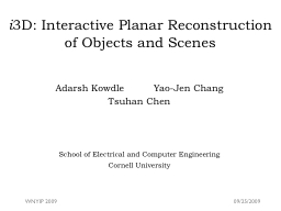i 3D: Interactive Planar Reconstruction of Objects and Scen