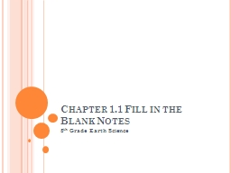 Chapter 1.1 Fill in the Blank Notes PowerPoint PPT Presentation