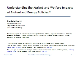 Understanding the Market and Welfare Impacts of