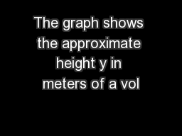 The graph shows the approximate height y in meters of a vol