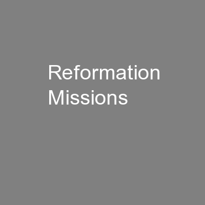Reformation Missions