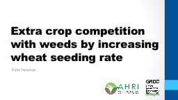 Extra crop competition with weeds by increasing wheat seedi