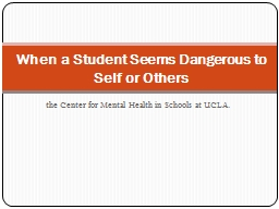 the Center for Mental Health in Schools at UCLA.
