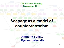 1 Seepage as a model of counter-terrorism