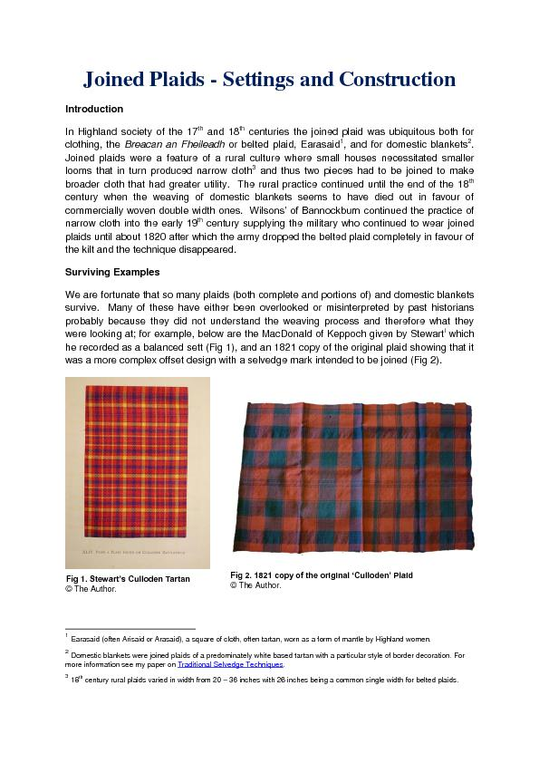 Joined Plaids PowerPoint PPT Presentation