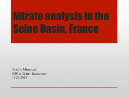 Nitrate analysis in the Seine Basin, France