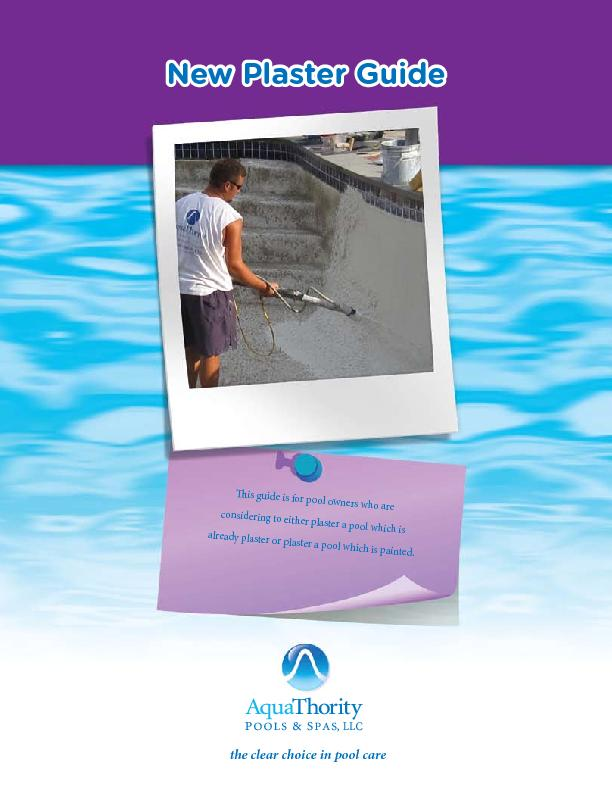 is guide is for pool owners who are considering to either plaster a p