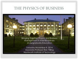 The Physics of Business