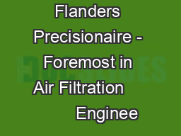 Flanders Precisionaire - Foremost in Air Filtration            Enginee