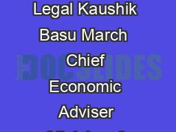 Why for a Class of Bribes the Act of Giving a Bribe should be Treated as Legal Kaushik Basu March  Chief Economic Adviser Ministry of Finance Government of India New Delhi  Content Page No