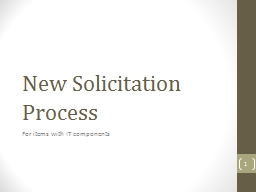 New Solicitation Process