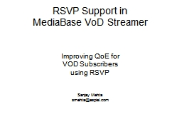 RSVP Support in
