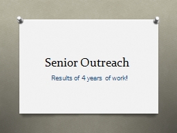Senior Outreach