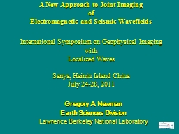 A New Approach to Joint Imaging