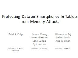 Protecting Data on Smartphones & Tablets