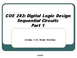 COE 202: Digital Logic Design
