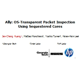 Ally: OS-Transparent Packet Inspection Using Sequestered Co PowerPoint PPT Presentation