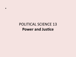POLITICAL SCIENCE 13