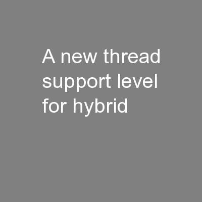 A new thread support level for hybrid PowerPoint PPT Presentation