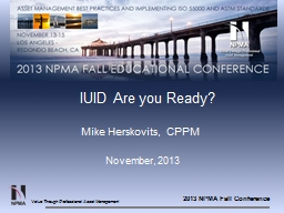 IUID Are you Ready? PowerPoint PPT Presentation