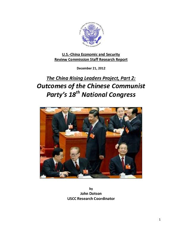 China Economic and Security