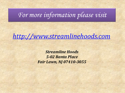 Kitchen Hoods Fair Lawn PowerPoint PPT Presentation