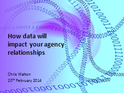 How data will impact your agency relationships