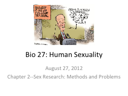 Bio 27: Human Sexuality PowerPoint Presentation, PPT - DocSlides