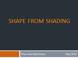 Shape From Shading PowerPoint PPT Presentation