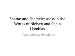Shame and Shamelessness in the Works of Nielsen and Pablo L