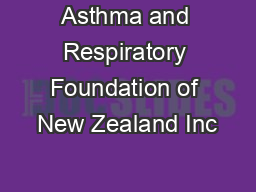 Asthma and Respiratory Foundation of New Zealand Inc