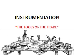 INSTRUMENTATION PowerPoint PPT Presentation