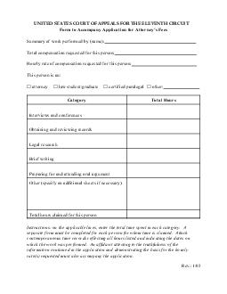 Form to Accompany Application for Attorneys Fees Summary of w ork performed b y  PDF document - DocSlides