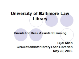 University of Baltimore Law Library PowerPoint PPT Presentation