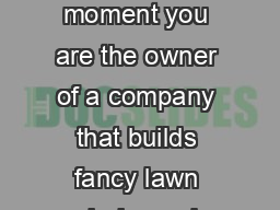 How Much to Charge Your BrotherInLaw by Chris Burand Imagine for a moment you are the owner of a company that builds fancy lawn chairs and your pesky brotherinlaw wants a set of lawn chairs at cost