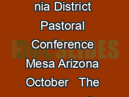 Brotherly Admonition By Lowell Smith Presented to the ArizonaCalifor nia District Pastoral Conference Mesa Arizona October   The purpose of this essay is not to review the whole spectrum of church di